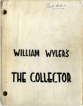 COLLECTOR, THE (1965) Revised Final Draft screenplay by Stanley Mann & John Kohn, Apr 30, 1964