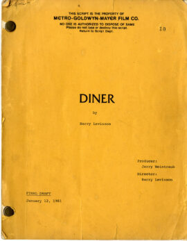 DINER (1982) Final Draft screenplay by Barry Levinson Jan 12, 1981