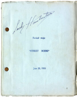 STREET SCENE (1931) Revised film script Jun 20, 1931 by Elmer Rice