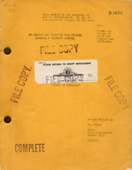 Babes On Broadway (1941) Original script