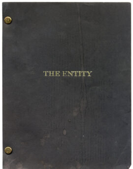 ENTITY, THE (1982) REVISED DRAFT script + SHOOTING SCHEDULE