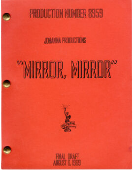 WATERMELON MAN [under working title: MIRROR, MIRROR] (1969) Film script dated Aug. 6, 1969
