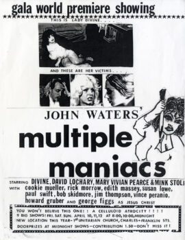 MULTIPLE MANIACS (1970)