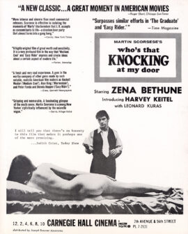 WHO'S THAT KNOCKING AT MY DOOR (1968)