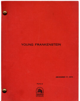 YOUNG FRANKENSTEIN (1973) Third Draft screenplay by Gene Wilder & Mel Brooks, Dec. 17, 1973