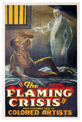 FLAMING CRISIS (1924) Prison cell ghost variant poster