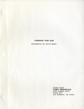 GLENGARRY GLEN ROSS (1992) Screenplay by David Mamet