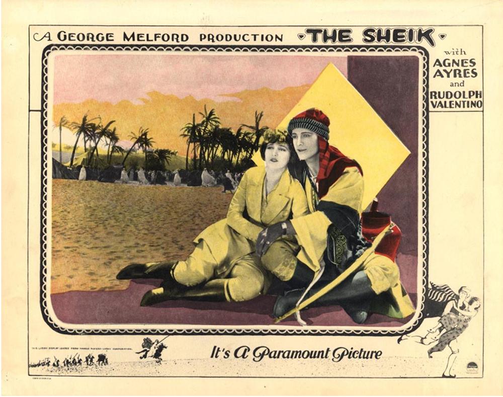 "Rudolph[h Valentino & Vilma Banki in ""The Sheik"""