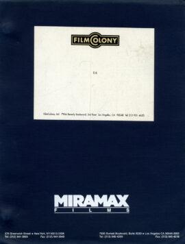 54 (Aug 12, 1997) Film script by Mark Christopher