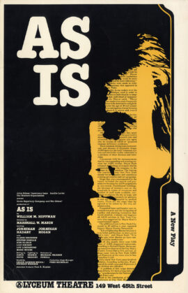 AS IS (1985) Theatre poster