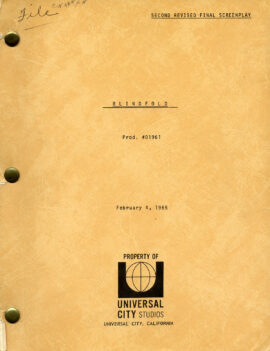 BLINDFOLD (Feb 4, 1965) Second Revised Final screenplay