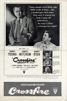 CROSSFIRE (1947) Pressbook
