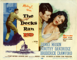 DECKS RAN RED, THE (1958) Set of 8 lobby cards