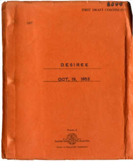 DÉSIRÉE (Oct 19, 1953) First Draft screenplay by Daniel Taradash