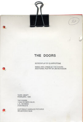 DOORS, THE (Feb 1990) Third Draft screenplay by Oliver Stone