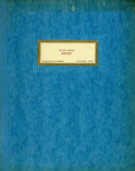 EL DORADO (under working title: ELDORADO] (Sep 23, 1965) Shooting script general distribution by Leigh Brackett