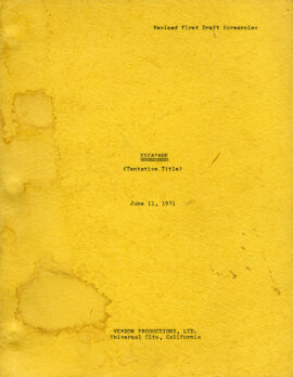 ESCAPADE [working title for: A WARM DECEMBER] (Jun 11, 1971) Revised First Draft screenplay