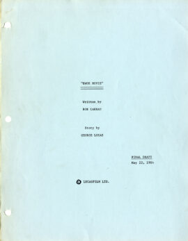 EWOK ADVENTURE, THE [under working title: EWOK MOVIE] (May 22, 1984) Final Draft script by Bob Carrau