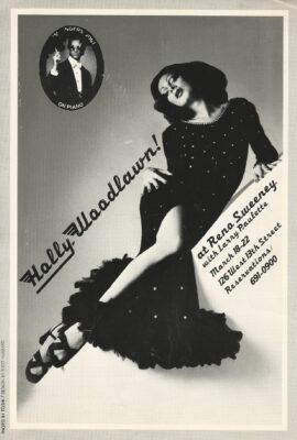 HOLLY WOODLAWN at RENO SWEENEY (1975) Postcard