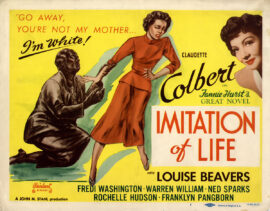 IMITATION OF LIFE (1935; 1949 reissue) Title lobby card