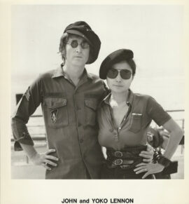 JOHN and YOKO LENNON (ca. 1972) Set of 2 photos