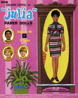 DIAHANN CARROLL / JULIA (1968) Paper doll book