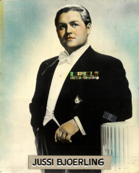 JUSSI BJOERLING (ca. 1955) Record store poster