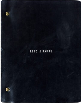 LEGS DIAMOND (Nov 12, 1985) Revised book theatre script + audio cassette