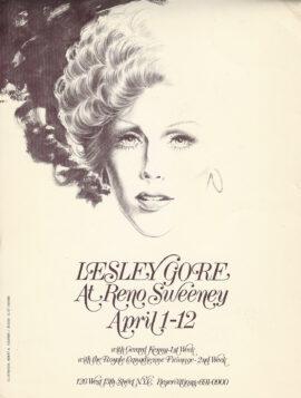LESLEY GORE at RENO SWEENEY (1975) Postcard