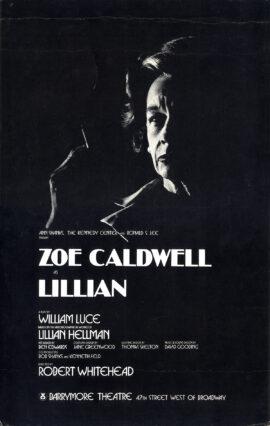 LILLIAN (1986) Theatre poster