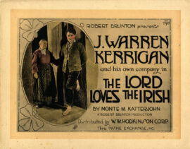 LORD LOVES THE IRISH, THE (1919) Title lobby card