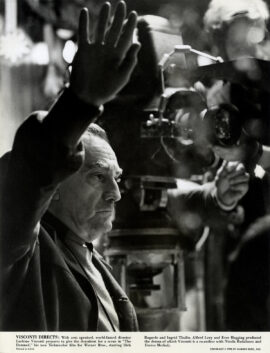 LUCHINO VISCONTI / THE DAMNED (1970) BTS photo of director