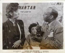 MANTAN RUNS FOR MAYOR (1946) Set of 3 photos