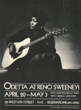 ODETTA AT RENO SWEENEY (1975) Postcard
