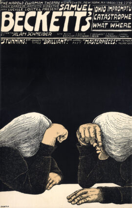 Samuel Beckett's OHIO IMPROMPTU / CATASTROPHE / WHAT WHERE (1983) Theatre poster