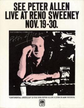PETER ALLEN LIVE AT RENO SWEENEY (1974)