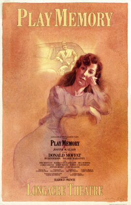 Joanna Glass' PLAY MEMORY (1984) Theatre poster