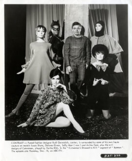 RUDI GERNREICH with EARTHA KITT as Catwoman (1967)