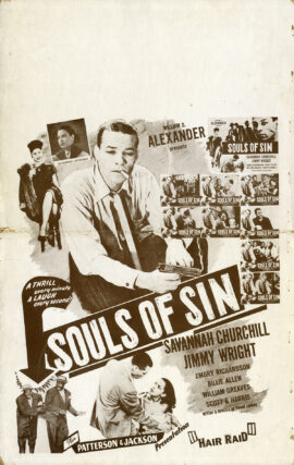 SOULS OF SIN (1949) Window card poster
