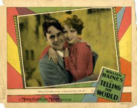 TELLING THE WORLD (1928) Lobby card