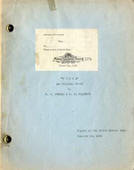 TABU [TURIA] (1930) Set of 3 variant film scripts by F.W. Murnau and Robert J. Flaherty