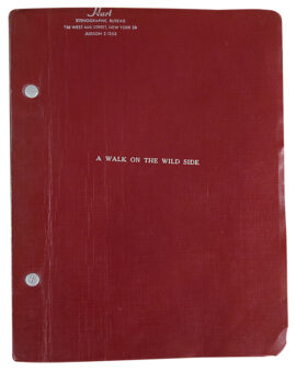 WALK ON THE WILD SIDE (ca. 1960) Film script treatment by Merle Miler adapted from Nelson Algren
