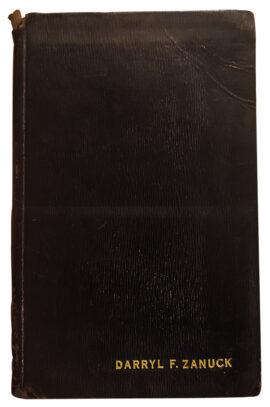 Darryl Zanuck's personally-bound volume of 1951 Twentieth Century Fox bound sales reports from their British office