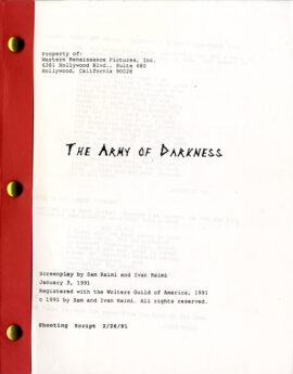 ARMY OF DARKNESS (1991) Two variant film scripts