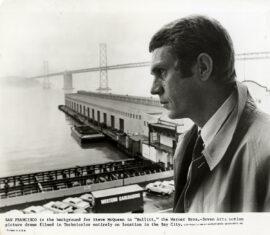 BULLITT (1968) Steve McQueen at the docks