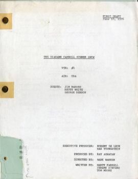 DIAHANN CARROLL SUMMER SHOW, THE (Jun 10, 1976) First draft TV script / Jim Nabors (guest)