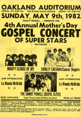 4th ANNUAL MOTHER'S DAY GOSPEL CONCERT OF SUPER STARS (1982) Poster
