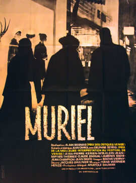MURIEL (1963) French poster