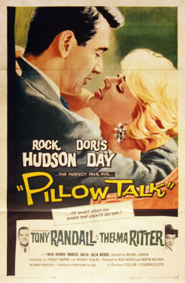 PILLOW TALK (1959) One sheet poster, folded