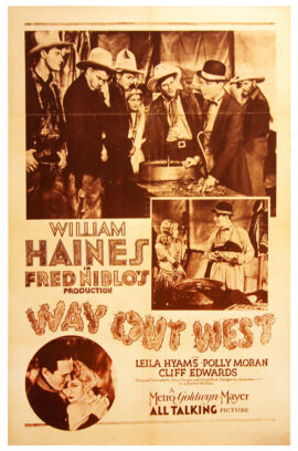 WAY OUT WEST (1930) One sheet poster
